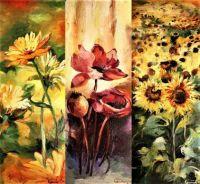 Triptych kvetin/Triptych of flowers