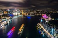 Sydney transformed in the annual Vivid Sydney Festival, Aus,