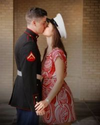 Silly Kisses from a Marine