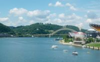 where the Allegheny River meets the Monongahela River, and they become the Ohio River