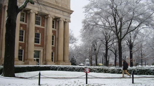 University of Alabama, snowy day