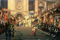 Jean-Leon_Gerome_XX__The_Reception_for_Prince_Conde_at_Versailles_1878
