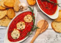 Baked Goat Cheese Marinara [3 Ingredient Appetizer!]