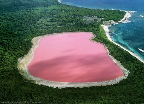 Austrailia's Hiller Lake's Pink color still remains a mystery