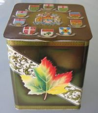 Maple Leaf Canada Tin
