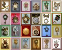 THEME - Clocks - Timepiece brooches from Rocks to Riches