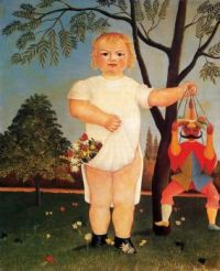 Henri Rousseau--Child with Puppet (also known as To Celebrate the Baby), 1903