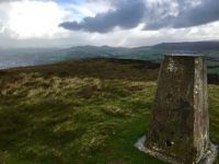 Rainbow at Skipton Moor Trig Point