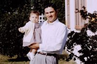 My father & I.  Johnson AFB, Japan