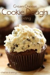 cookie dough frosting cupcake
