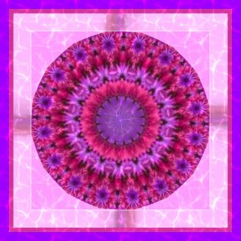 Pinky Purple Flower Kaleido