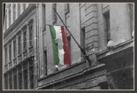 23 October1956 ~ Hungarian Flag Free of the Soviet Hammer & Sickle
