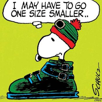 Snoopy's Snow Boot!