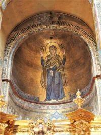 Inside St Sophia's Cathedral in Kiev