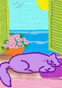 Basil Catnaps by the Window (Resized)