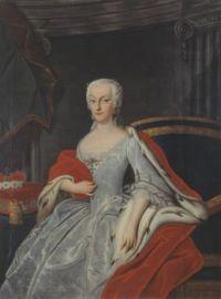Portrait of Princess Anna Sophie of Schwarzburg-Rudolstadt (1700-1780) artist unknown