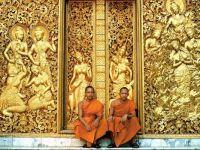Doors of Wat Aham temple, Luang Prabang (Laos)