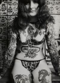 tattooed lady i imagine from the 1960s
