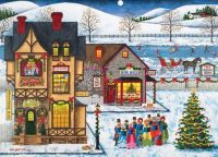 Puzzle Warehouse-Main Street Carolers