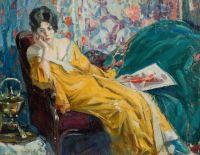 Ulisse Caputo Artwork  -  'Donna con Ventaglio'