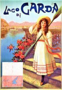 Themes Vintage Travel Poster - Lago di Garda Italy - Lake Garda