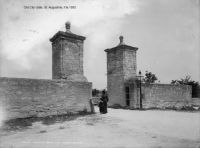 Old Florida - Old City Gate - St. Augustine 1885