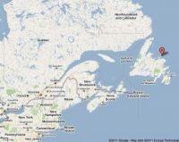 Canada, Fogo Island  map
