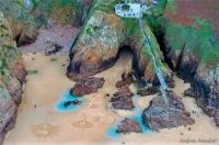 Beach Mural in the sand