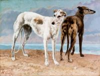 The Greyhounds of the Comte de Choiseul, Gustave Courbet, 1866