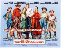 THEBIG COUNTRY - 1958 POSTER  GREGORY PECK, JEAN SIMMONS, CHARLTON HESTON, BURL IVES