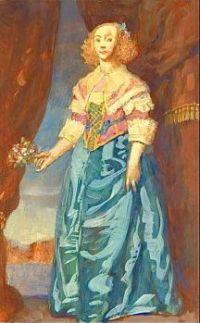 Untitled (figure of a woman in seventeenth century dress), c.1930, N. C. Wyeth (1882-1945)