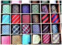 Men's Silk Ties in a Storage Box