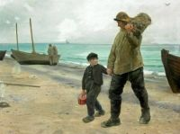 "Michael Peter Ancher, ""Father and Son in Skagen"""