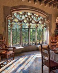 Dining room  window in Casa Amatller in Barcelona, Catalon