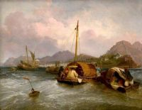 Attributed to William Daniell--Egg Boats off Macao, China