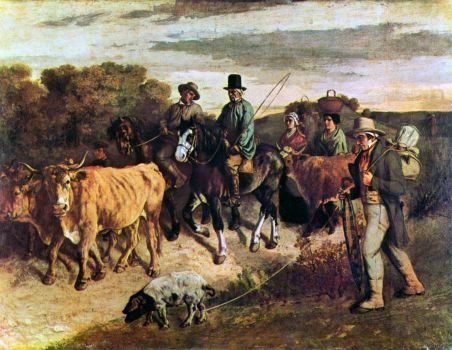 Courbet - Farmers of Flagey on the Return From the Market