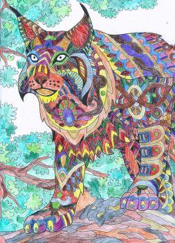 Wild Animals Coloring Lynx