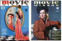 Movie Mirror Magazine ~ Irene Dunne ~ May, 1930s and Carole Lomard ~ December, 1939