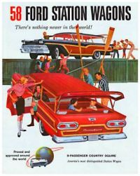 Vintage ad - 58 Ford Station Wagons