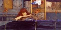 I lock my door upon myself by Ferdinand Khnopff