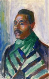 Edvard Munch, African with Green Scarf (1916)