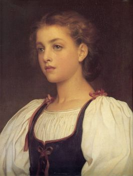 """Biondina"" (1879) by Lord Frederick Leighton."