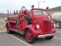 old fire truck in bisbee az.