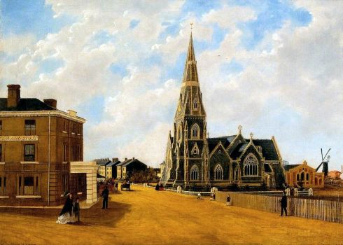 St. John's Church, 1861 by Caroline Adam