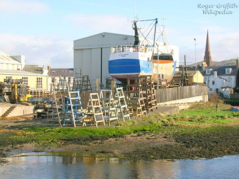 Girvan_shipyard,_Ayrshire Scotland