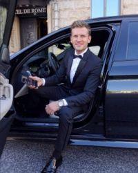 Handsome Rich Boy in his BMW