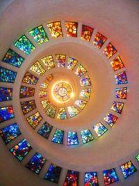 Spiral of glass.
