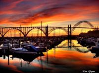 Yaquina Bay and Bridge, Oregon w-signature