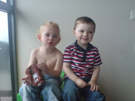 My sons,both 3,diff mothers