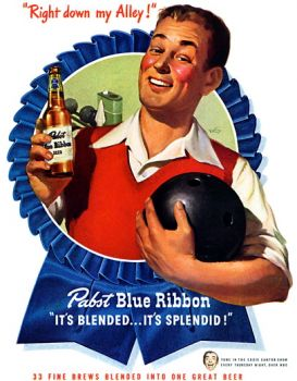 PABST BLUE RIBBON BEER AD - 1947